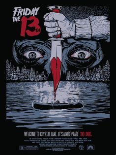 Horror Movie Poster Art : Friday The by Christopher Cox Fan Poster, Movie Poster Art, Horror Movie Posters, Horror Films, Horror Villains, Film Posters, Arte Horror, Horror Art, Friday The 13th Poster