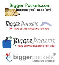 The BiggerPockets logo over the years . . .  linked is a post on the origins of the site.