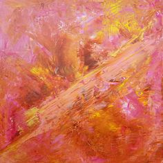 Sweetness of Life Pink Painting, Colorful Paintings, Color Blending, Copper Color, Metallic Colors, Abstract Landscape, Online Art Gallery, All Art, Earthy