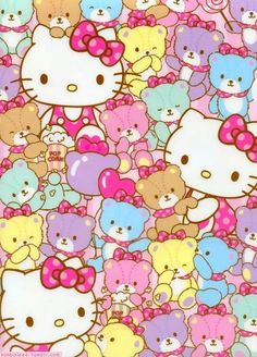 hello kitty and wallpaper afbeelding
