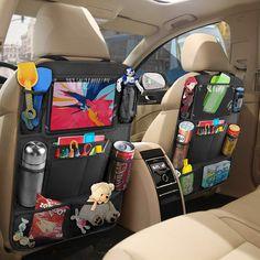 Car Organization Kids, Organizing, Backseat Car Organizer, Baby Storage, Toy Car Storage, Seat Storage, Baby Life Hacks, Cute Car Accessories, Travel Accessories