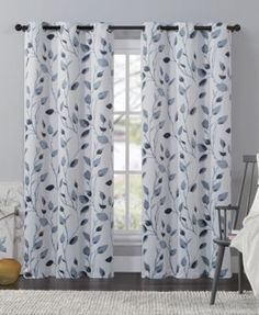 Freshen Up A Room With The Leaf Window Curtain Panel By VCNY. Beautiful  Leaf Patterns Against A Grey Background Bring The Look Of A Freshly Painted  ...