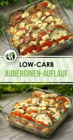 The vegetarian aubergine bake is low-carb, healthy and also gluten-free. It also tastes great. The vegetarian aubergine bake is low-carb, healthy and also gluten-free. It also tastes great. Easy Healthy Recipes, Veggie Recipes, Low Carb Recipes, Diet Recipes, Vegetarian Recipes, Easy Meals, Vegetarian Casserole, Vegetarian Dinners, Diet Meals