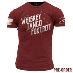 WTF IIThere is only one way to respond to stupidity. Whiskey Tango Foxtrot, Over.Grunt Style's WTF II shirt is a soft and comfortable cardinal men's shirt that is made out of 60% cotton and 40% polyester.PREORDER ITEMALL ORDERS CONTAINING THIS ITEM WILL NOT START SHIPPING UNTIL 4/7