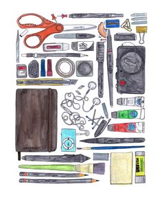 SUBMISSION: from Lostinjungle  I spent couple of winter days drawing since it's was such a beautiful weather outside ( whoever is or has ever been in vancouver knows what im talking about. ) I have had this obsession about things organized. I only like looking at photographs or drawings of things organized neatly. Not what my table looks like on a normal day. Quite the opposite.So the conclusion to this is: This is how my table should look like.