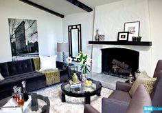 I like these colors: gray, taupe, beige, brown and black.  Add bright colors with pillows and accessories.  From Interior Therapy with Jeff Lewis Season 1 - Before and After: The Goldens - Photo Gallery - Bravo TV Official Site