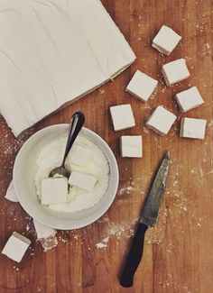 Alton Brown's Homemade Marshmallows are easy to prepare. And once you have the base recipe down, the possibilities are endless (for example add peppermint oil for a holiday-spin or cocoa for chocolate lovers).