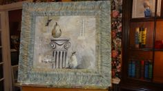 Collage, painted frame with Chalk Paint® decorative paint by Annie Sloan. Beautiful selection of colors.