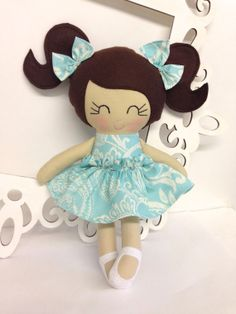 Dolls PlushHandmade Dolls Soft Doll Cloth by SewManyPretties, $46.00 #handmade #girlbirthday #girlgift