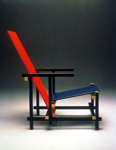 red&blue chair/ヘーリット・トーマス・リートフェルト/デステイル/モンドリアン/幾何学/エレメント/部分と全体/1918