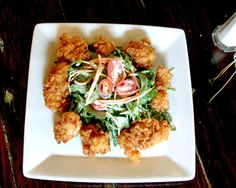 Fried Alligator Salad Recipe (Photo courtesy of Poogan's Porch)