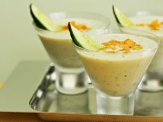 A Green Gazpacho: Chilled Cucumber Soup with Yogurt and Fresh Mint by Food and Style