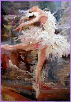 Ballerina, painting by Scott Mattlin Love the texture, the brush strokes here! ~js