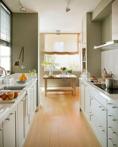 White kitchen designs for small spaces space saving alternatives for kitchen islands small kitchen design white . white kitchen designs for small spaces Kitchen Space Savers, Small Space Kitchen, Narrow Kitchen, Kitchen On A Budget, Kitchen Dining, Dining Room, Kitchen Planning, Kitchen Ideas, Kitchen Decor