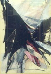 Andre de Jong  Rose Rouge Noir (1986), mixed media 60 x 80
