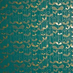 Saplings wallpaper PEFC certified Printed in the UK Size: 52 cm × 10 metres / 11 yd × 20 in Finish: Matt/Metallic Turquoise Wallpaper, Metallic Wallpaper, Graphic Wallpaper, Wallpaper Art, Designer Wallpaper, Bedroom Colour Palette, Bedroom Colors, Bleu Turquoise, Aqua