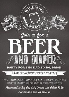 Beer and Diaper Shower InvitationDigital File by HelloLoveWeddings, $18.00