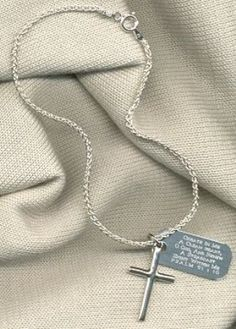Anklet with charm.