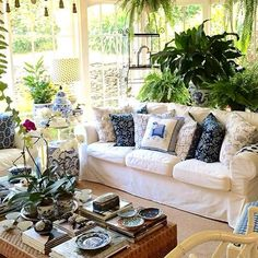 Beautifully decorated with plants.