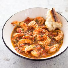 For a dish that didn't remind us of rubbery seafood in spicy marinara, we started by getting the shrimp's briny flavor to come out of its shell.