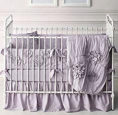 RH baby&child's Washed Appliquéd Fleur Nursery Bedding Collection
