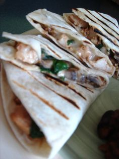 Chicken and Spinach Quesadillas | Annie's Eats