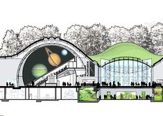 Planetarium Architecture, Pavilion Architecture, Sustainable Architecture, Architecture Plan, Landscape Architecture, Architecture Portfolio, Residential Architecture, Contemporary Architecture, Renzo Piano