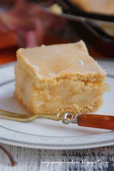 moje pasje: Szarlotka na mlecznym spodzie Polish Desserts, Polish Recipes, No Bake Desserts, Apple Recipes, Sweet Recipes, Cake Recipes, Dessert Recipes, Yummy Treats, Sweet Treats