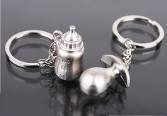 NEW !<10PCS/LOT >Baptism favors milk bottle pacifier keychain for baby shower favors baby shower boy ang girl gifts souvenirs