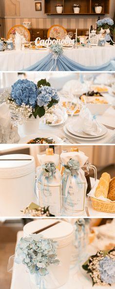 Hochzeit mit Hortensien, Hochzeitsdeko Hortensien, Tischdeko Hortensien