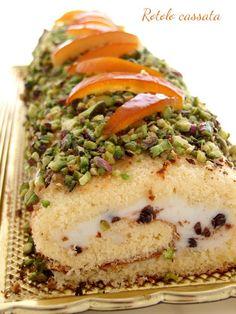 Italian Cake, Italian Desserts, Köstliche Desserts, Delicious Desserts, Veggie Recipes, Cake Recipes, Dessert Recipes, Jelly Roll Cake, Baked Bakery