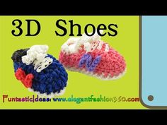 3D SNEAKER/TENNIS SHOE Charm - hook only. Designed and loomed by ElegantFashion360. Click photo for YouTube tutorial. 09/10/14.