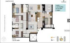 Excelente apartamento de 3 quartos em Águas Claras