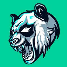 Wild Panda Esports Logo for Mascot Gaming and Twitch Vector and PNG