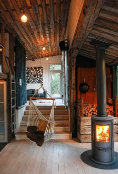 Best Modern Cabin Interior Design Ideas is part of - Modern Cabin Interior Talking about the aesthetics of logs converted into beautiful homes Make anyone who lives inside will feel comfortable Tiny House Cabin, Tiny House Design, Cabin Homes, Log Homes, Tiny Homes, Wood House Design, Modern Cabin Interior, Cabin Interior Design, Modern Cabin Decor