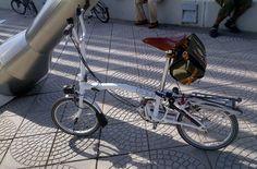White Brompton+Brooks Saddle and Carradice bag   Flickr - Photo Sharing!