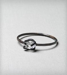 Arduous Black Diamond Ring