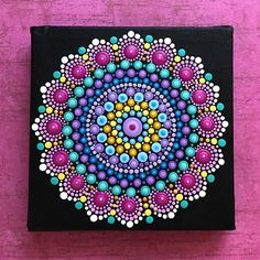 """163 Likes, 10 Comments - Mandala Art ~ ValsMandalas (@vallyn44) on Instagram: """"Snow day❄️= Painting day🎨 🌿SOLD #imahappygirl • • • • #valsmandalas #mandala #canvasart #painting…"""""""