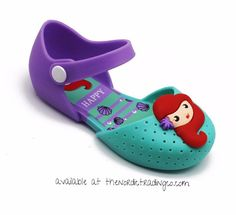 Mini Mermaid Baby Toddler Jelly Shoes sz 7-12 Aqua Blue Purple Little Mermaids Decor at Toe Jelly Ballet Flats Toddler Shoes Kids Children's Preschool #jellyflatsareback #toddlersmermaidshoe #littlemermaid #iwannabeamermaid #jellyshoes #shopify