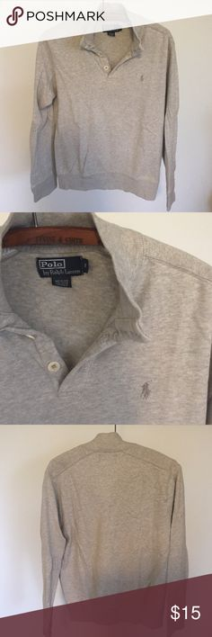 Mens sweater Men's polo Ralph Lauren half button up long sleeve top. In good used condition. Polo by Ralph Lauren Shirts Sweatshirts & Hoodies