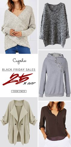 Up to 25% off for Black Friday Carnivals! Free shipping&easy return! Update your wardrobe with those amazing items you love. Enjoy holidays with them.  Get more at Cupshe.com
