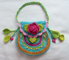 Ideas... Crochet Bags... Gehaakt Tasje Daisy Mae