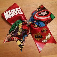 marvel cheer bow super hero cheer bow