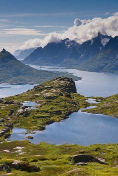 River at Digkerollen and  Snötiden, Loften Islands,  Norway.  Flickr