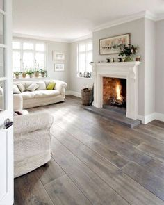 The living room is the main room with regards to decorating as well as allows that you should build the reasoning all through the home. Mixing furniture styles living room is the perfect starting point. Grey Wood Floors, Grey Flooring, Wooden Flooring, Laminate Flooring, Plank Flooring, Plywood Floors, Gray Walls, Painted Floors, Vinyl Flooring