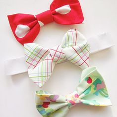 A fun and simple now sew fabric bow tutorial.