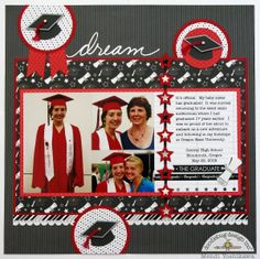 Embellish graduation cards or layouts with the Icons Cardstock Stickers from The Graduates Collection by Doodlebug Design. These cute stickers are fun to use School Scrapbook Layouts, 12x12 Scrapbook, Scrapbook Designs, Scrapbooking Layouts, Vacation Scrapbook, Scrapbook Titles, Graduation Scrapbook, Graduation Cards, Graduation Ideas