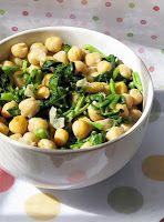 Salada de Agrião e Grão-de-Bico