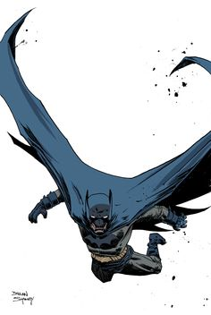Check out this sweet Batman I colored by my buddy Declan Shalvey!