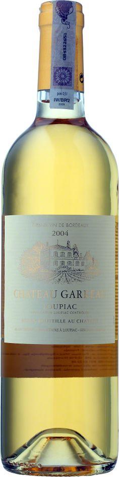 Wino Chateau - Chateau Garreau Loupiac A.O.C Wino o słomkowożółtej barwie z wyczuwalnymi aromatami cytrusów i skórki pomarańczowej. Eleganckie i kompleksowe wino. #Wino #Bordeaux #SauvignonBlanc #Winezja Bordeaux, Saint Emilion, Sauvignon Blanc, Wine, Bottle, Drinks, Drinking, Beverages, Flask
